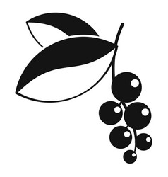 currant berries icon simple style vector image