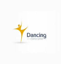 dancing man creative symbol concept happiness vector image
