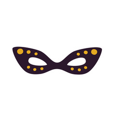 dark masquerade mask icon vector image