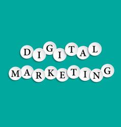 Digital marketing inscription composed paper vector