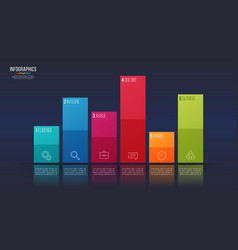 easy editable 6 options infographic design vector image