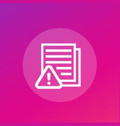 Error report failed tests icon vector