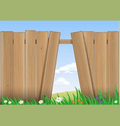 Fence with a hole vector