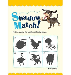 Game template with matching dog vector