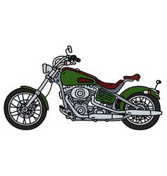 green heavy chopper vector image