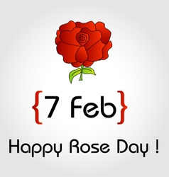 Happy Rose day card for february 7th vector