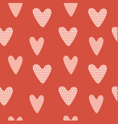 heart pattern hand drawn heart design elements vector image