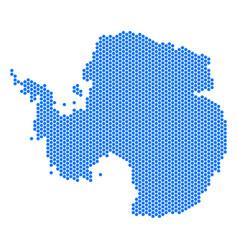 Hex tile antarctica map vector