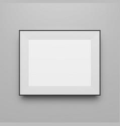 horizontal black frame blank template vector image