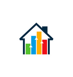 house statistic logo icon design vector image