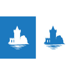 Icon with european medieval falkirk castle in vector