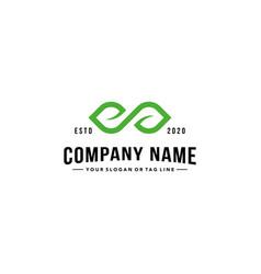 Infinity leaf logo vector