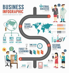infographic business template design concept vector image