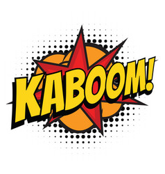 Kaboom comic word vector