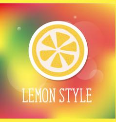 Lemon style minimalism yellow kitchen vector