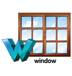 Letter W vector