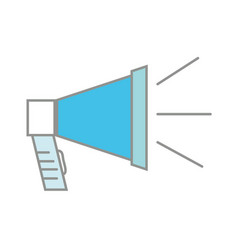 line color megaphone object to speaker audio vector image