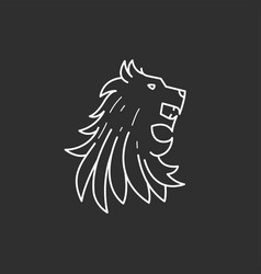 Lion head icon vector