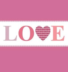 Love in heart vector