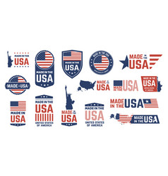 made in usa badges patriot proud label stamp vector image