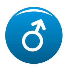 male gender symbol icon blue vector image