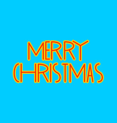 merry christmas lettering holiday typography new vector image