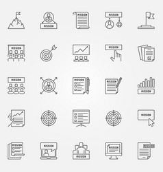 mission statement icons set - business vector image