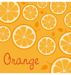 Pattern of silhouettes of oranges isolated on oran vector