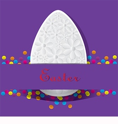 Purple card for Easter vector