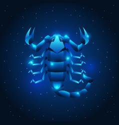 scorpio zodiac sign blue star horoscope symbol vector image