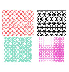 Seamless geometric line pattern in korean style vector