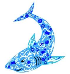 shark blue vector image