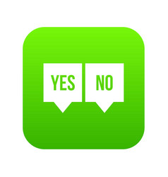 signs of yes and no icon digital green vector image