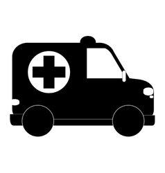 Small ambulance icon vector
