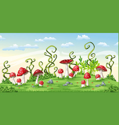 Some fly mushrooms vector