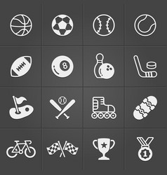 sports icons flat trendy set eps10 vector image