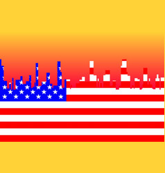 Stars and stripes cityscape vector