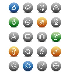Stencil round buttons for science vector
