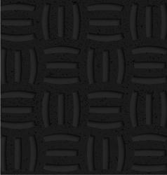 Textured black plastic three holes pin will vector