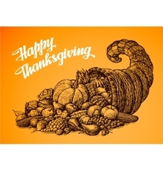 Thanksgiving Day Hand drawn vector image