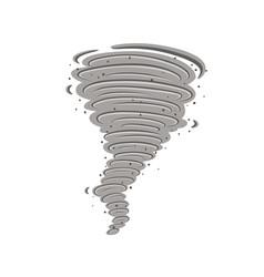 Tornado icon vector