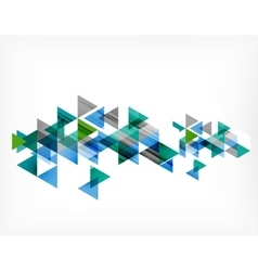 Triangle pattern composition abstract background vector image