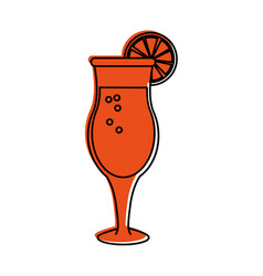 Tropical cocktail with garnish icon image vector