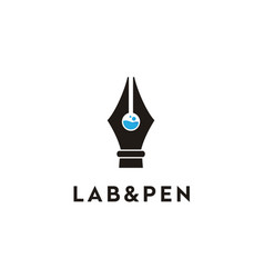 tube lab pen science research chemistry logo vector image