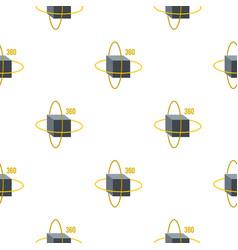 Virtual cube pattern seamless vector