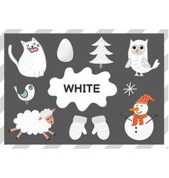 white educational worksheet for kids learning vector image