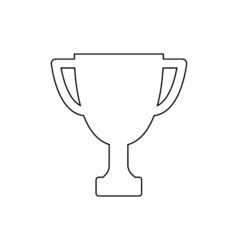 Winner trophy cup outline icon Linear vector image