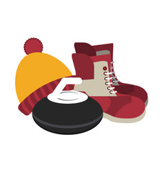 winter clothes and equipment vector image