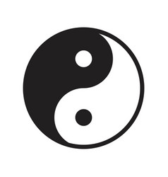 Yin yang chinese new year related solid icon vector