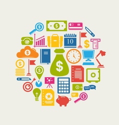 Business and Finance Objects vector image vector image